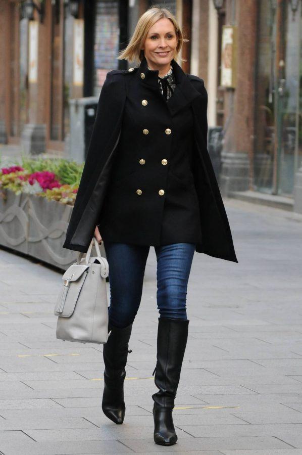 Jenni Falconer Seen leaving Smooth FM in London 07