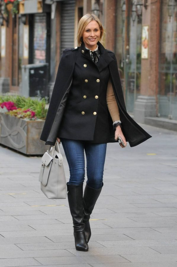 Jenni Falconer Seen leaving Smooth FM in London 08