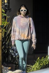 Kaia Gerber Seen walking her dog in Santa Monica 06