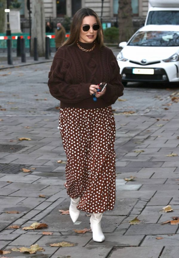 Kelly Brook Pictured at Heart Radio in London 03
