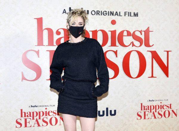Kristen Stewart Red carpet at Happiest Season Drive In Premiere in Los Angeles 03