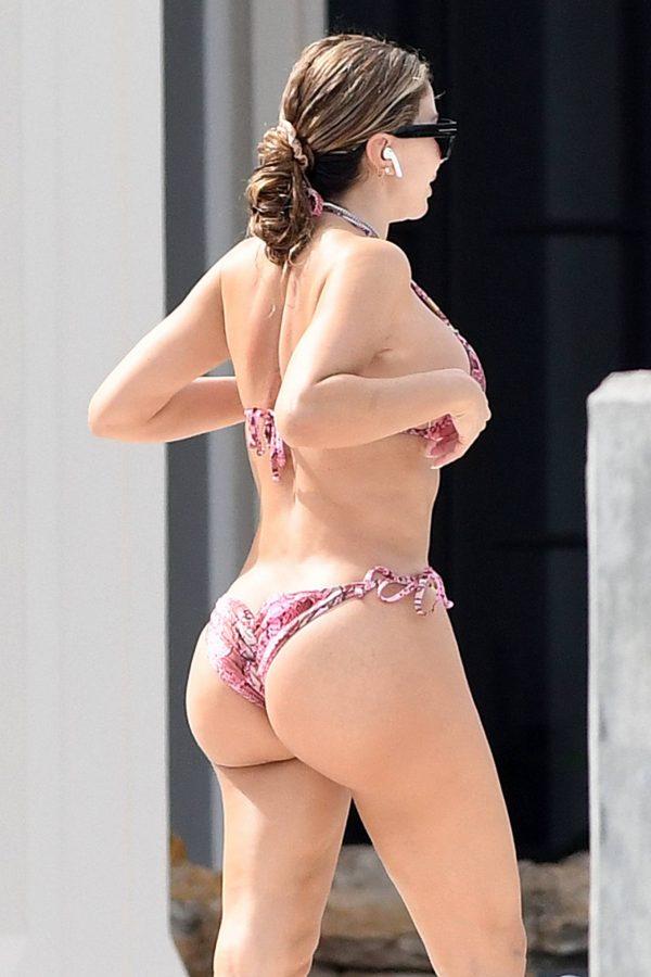 Larsa Pippen In a pink snakeskin bikini in Ft. Lauderdale 08