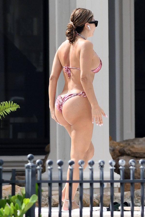 Larsa Pippen In a pink snakeskin bikini in Ft. Lauderdale 19