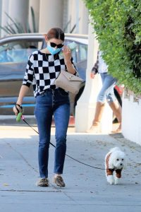 Lucy Hale Out with her dog Elvis in Los Angeles 06