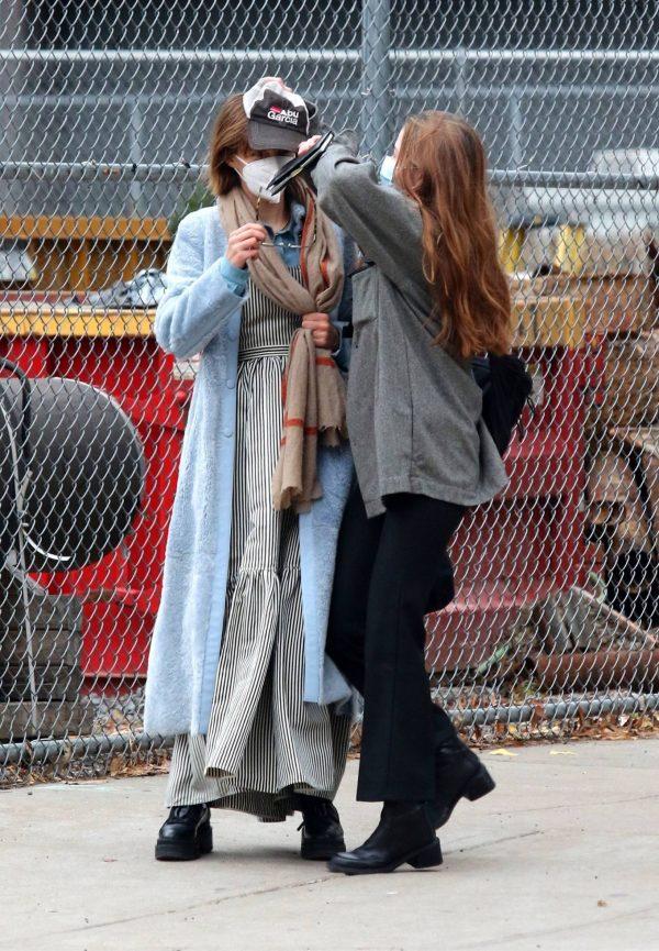 Maya Hawke seen out on a stroll in downtown Manhattan 02