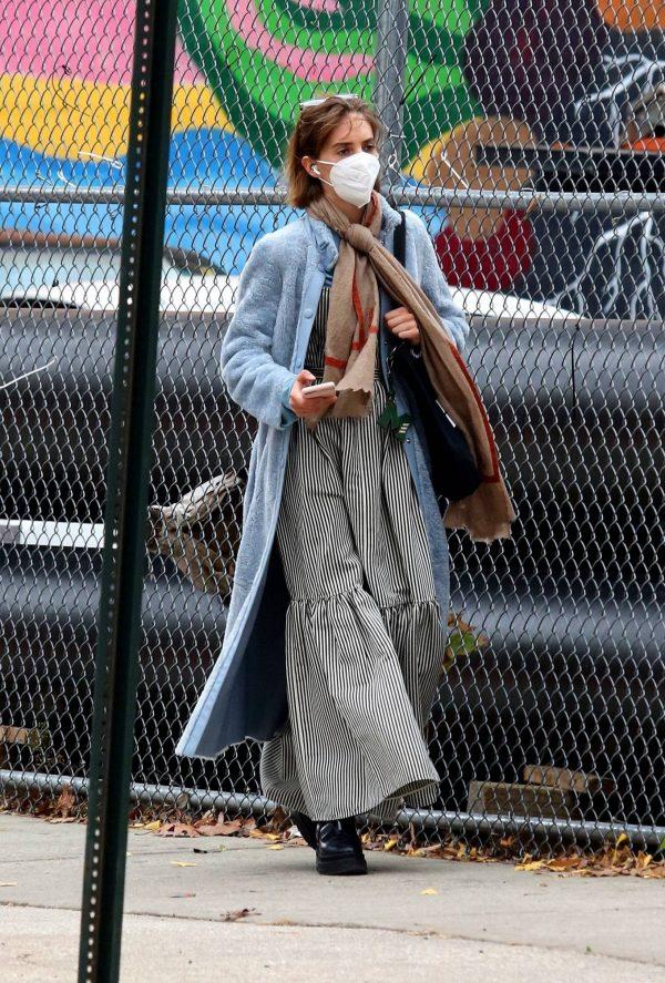 Maya Hawke seen out on a stroll in downtown Manhattan 08