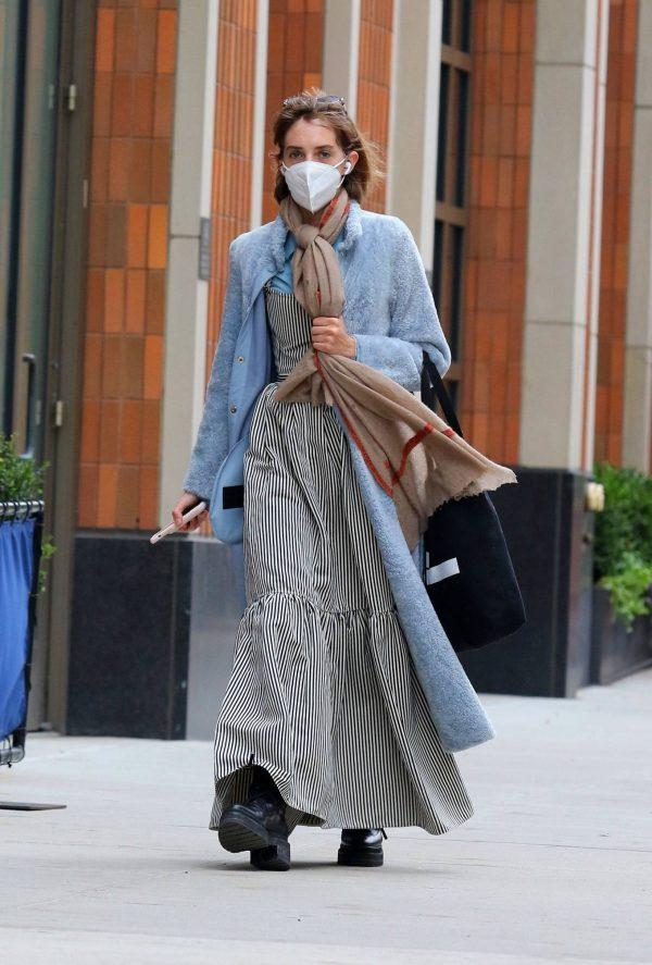 Maya Hawke seen out on a stroll in downtown Manhattan 11