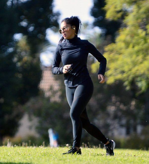Nicole Scherzinger and Thom Evans Workout candids in an LA park 03 1