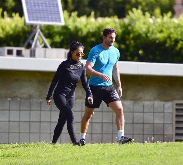 Nicole Scherzinger and Thom Evans Workout candids in an LA park 04