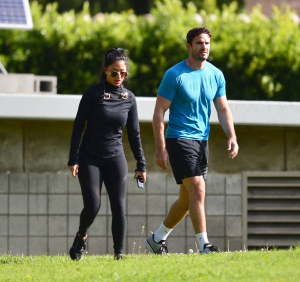 Nicole Scherzinger and Thom Evans Workout candids in an LA park 05 1