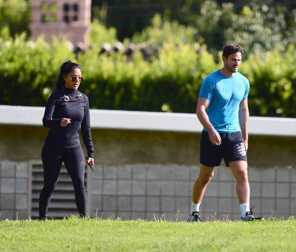 Nicole Scherzinger and Thom Evans Workout candids in an LA park 07 1