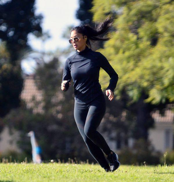 Nicole Scherzinger and Thom Evans Workout candids in an LA park 08 1