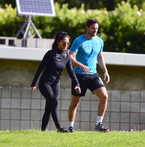 Nicole Scherzinger and Thom Evans Workout candids in an LA park 09