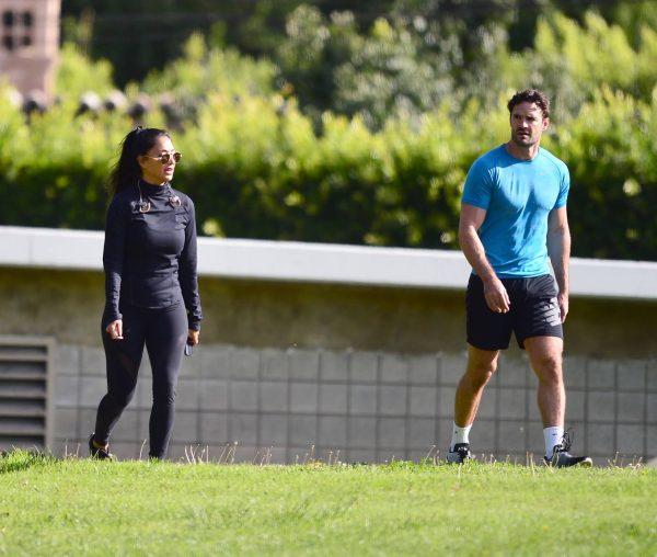 Nicole Scherzinger and Thom Evans Workout candids in an LA park 10 1
