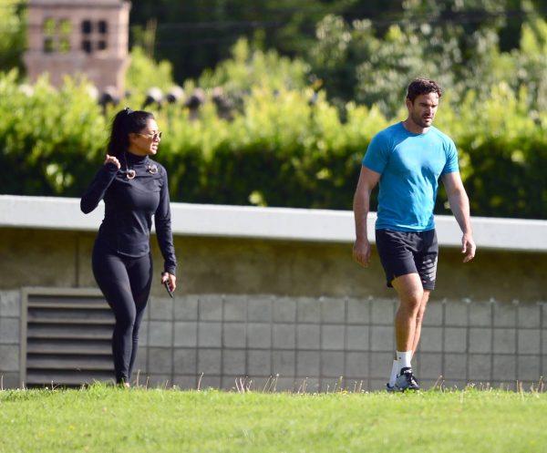 Nicole Scherzinger and Thom Evans Workout candids in an LA park 11 1