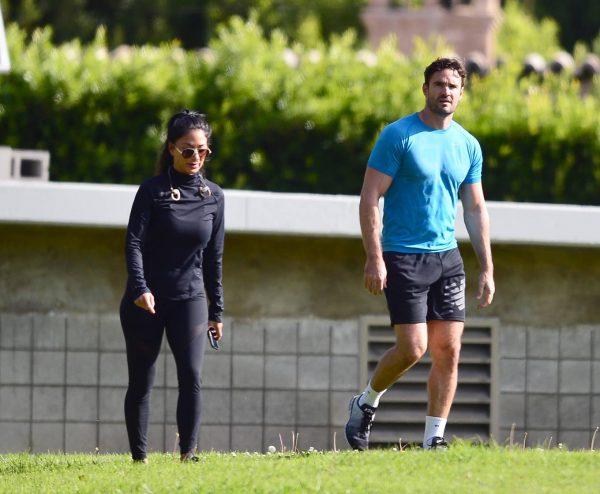 Nicole Scherzinger and Thom Evans Workout candids in an LA park 13