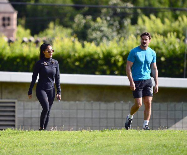 Nicole Scherzinger and Thom Evans Workout candids in an LA park 14