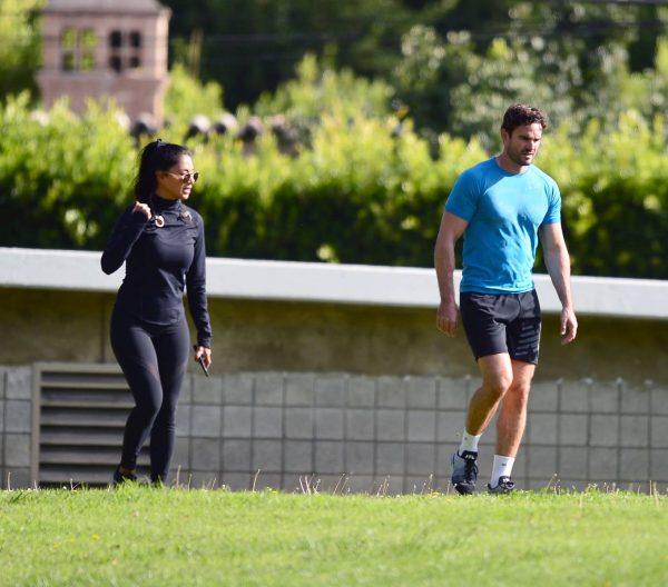 Nicole Scherzinger and Thom Evans Workout candids in an LA park 16