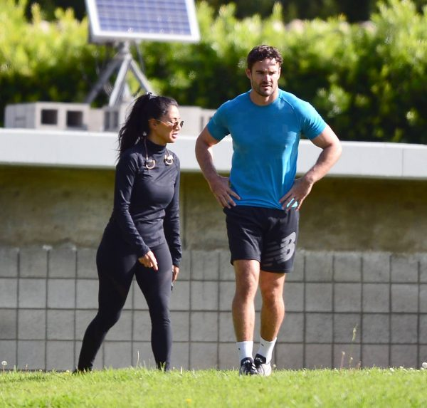 Nicole Scherzinger and Thom Evans Workout candids in an LA park 19