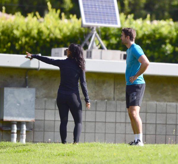 Nicole Scherzinger and Thom Evans Workout candids in an LA park 23
