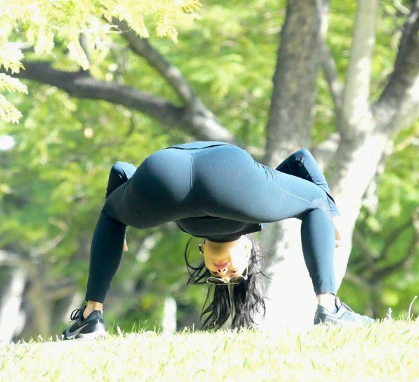 Nicole Scherzinger and Thom Evans Workout candids in an LA park 24