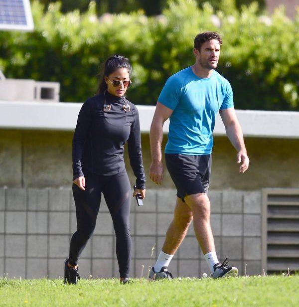 Nicole Scherzinger and Thom Evans Workout candids in an LA park 26