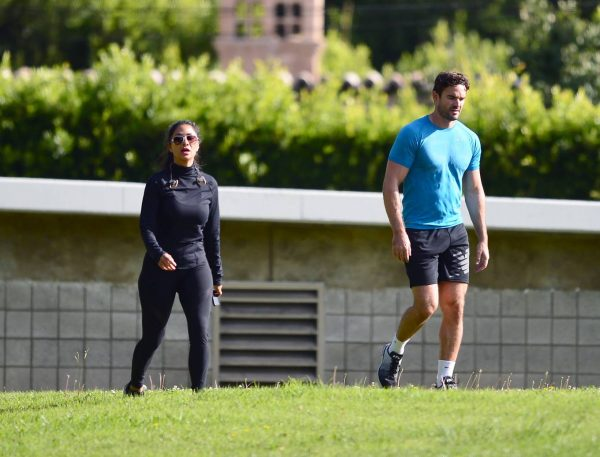 Nicole Scherzinger and Thom Evans Workout candids in an LA park 31