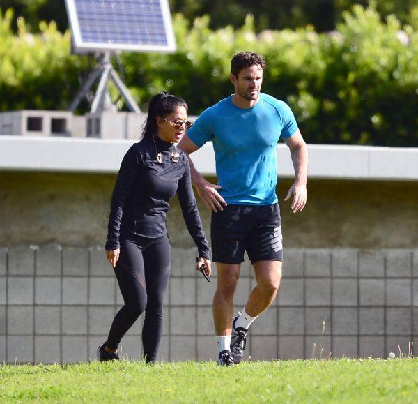 Nicole Scherzinger and Thom Evans Workout candids in an LA park 34