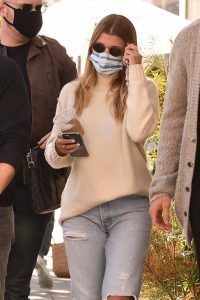Sofia Richie In ripped denim pants seen with a friend in Beverly Hills 01