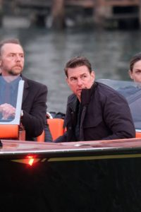 Tom Cruise with Rebecca Ferguson On a last scenes set of Mission Impossible 7 in Venice 04