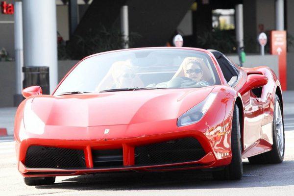 Vanessa Hudgens Leaving Dogpound gym in her red Ferrari 02