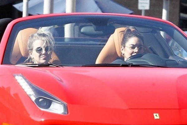 Vanessa Hudgens Leaving Dogpound gym in her red Ferrari 05