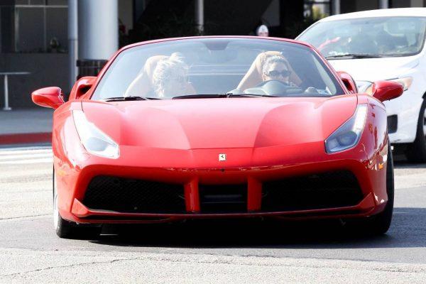 Vanessa Hudgens Leaving Dogpound gym in her red Ferrari 08