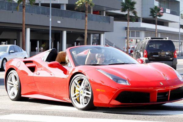 Vanessa Hudgens Leaving Dogpound gym in her red Ferrari 11