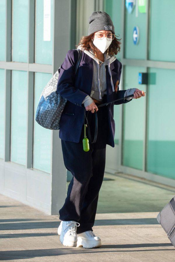 Vanessa Hudgens Pictured at JFK Airport in New York 01