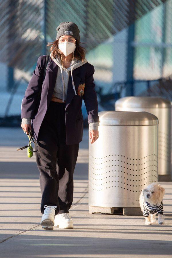 Vanessa Hudgens Pictured at JFK Airport in New York 02