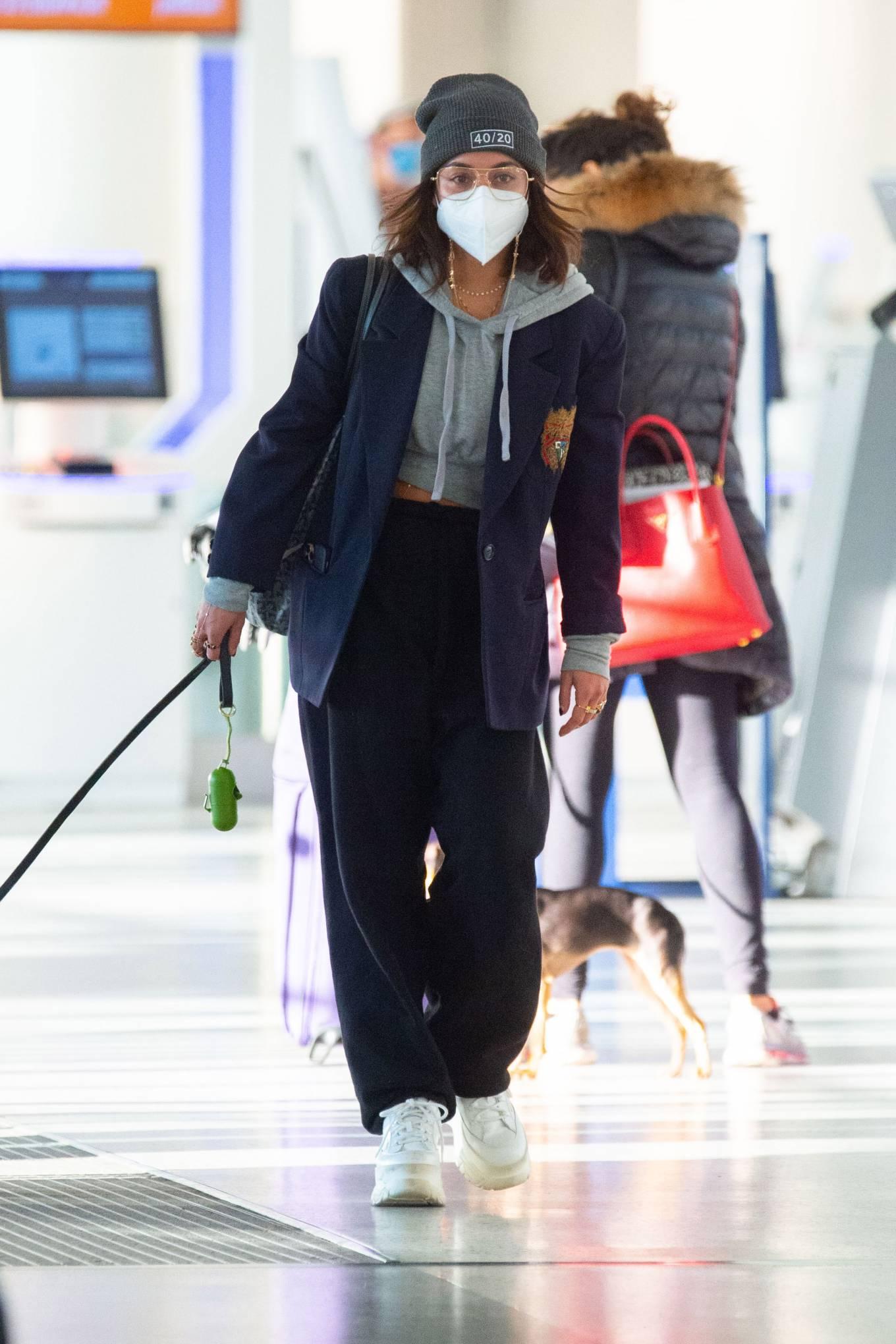 Vanessa Hudgens Pictured at JFK Airport in New York 06