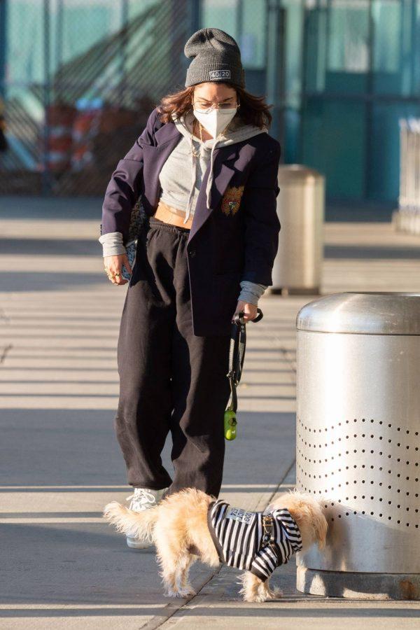 Vanessa Hudgens Pictured at JFK Airport in New York 07