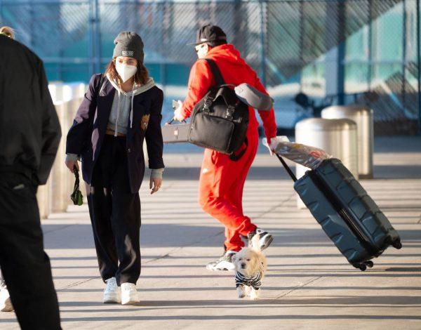 Vanessa Hudgens Pictured at JFK Airport in New York 11