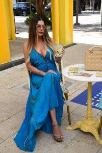 Adriana de Moura In dress shopping in Miamis Design District 05