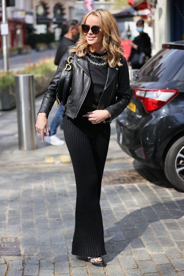 Amanda Holden In black at Heart radio in London 03