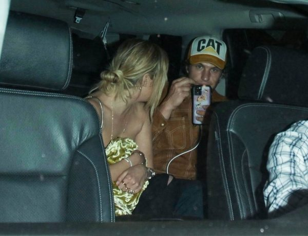 Ashely Benson Spotted with a mystery man at Delilah in West Hollywood 01