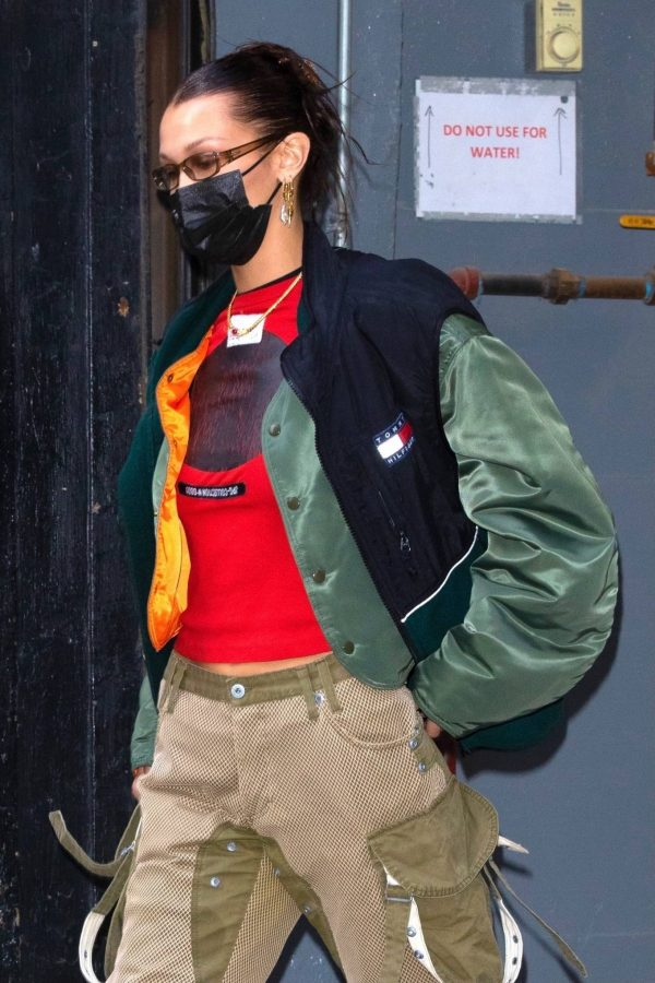 Bella Hadid Pictured while leaving a Givenchy campaign shoot in NYC 11
