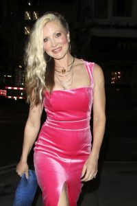 Caprice In pink tight mini dress night out at Arts Club in London 04