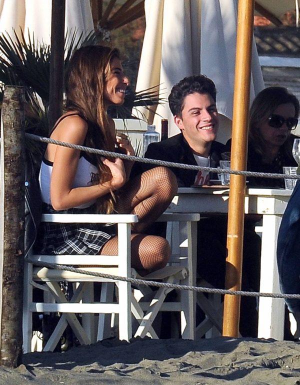 Chiara Bianchino Pictured on the beach with her boyfriend 01
