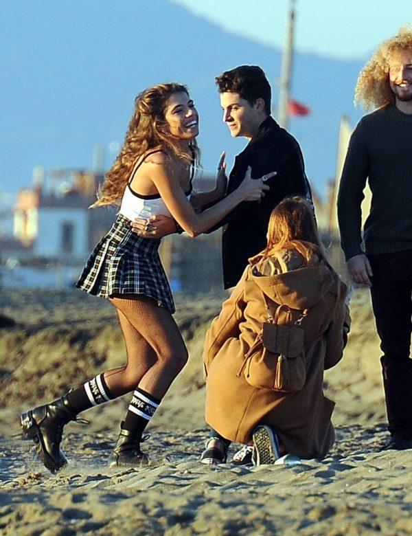 Chiara Bianchino Pictured on the beach with her boyfriend 02