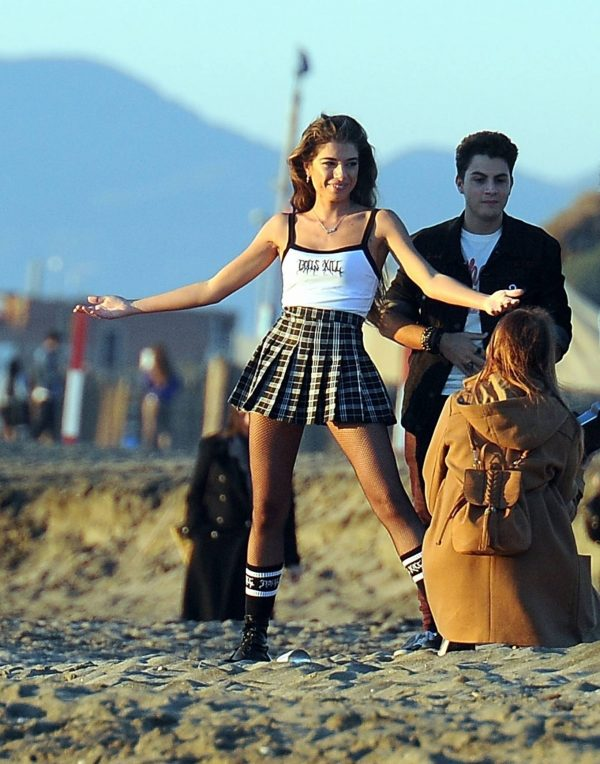 Chiara Bianchino Pictured on the beach with her boyfriend 05