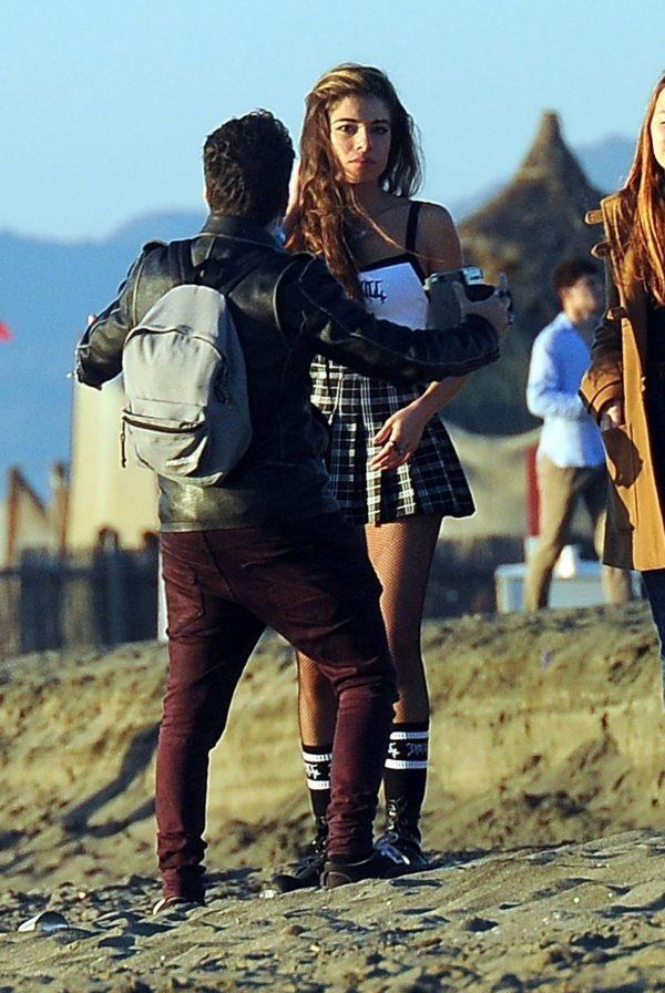 Chiara Bianchino Pictured on the beach with her boyfriend 07