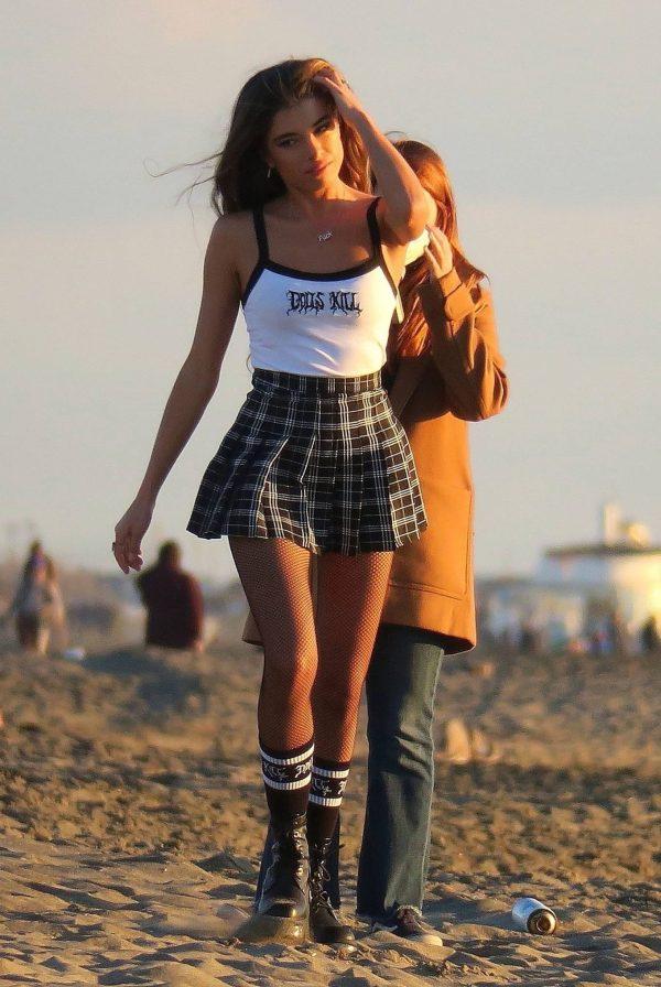 Chiara Bianchino Pictured on the beach with her boyfriend 09