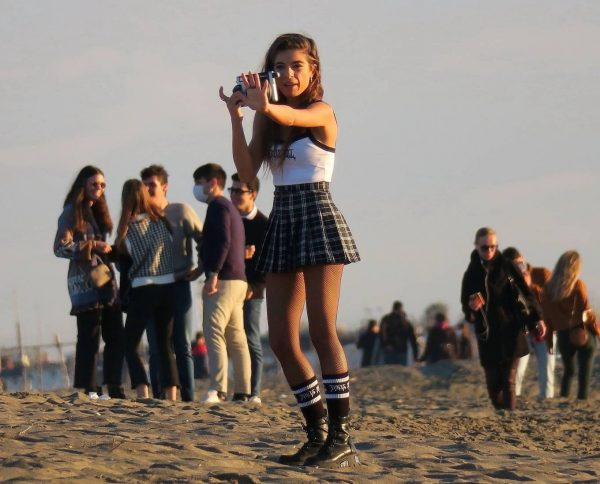 Chiara Bianchino Pictured on the beach with her boyfriend 10